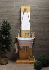 Mobile bagno Struttura portalavabo in legno con specchio Pozzo per linea Tinozza