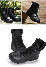 Men Outdoor Canvas Leather Shoes Military Tactical Army Battle Combat Boots Warm