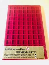 Aulfes Für 77 Münzen bis 20 mm Münztablett Münzalbum Münzplatten Aufbewahrung