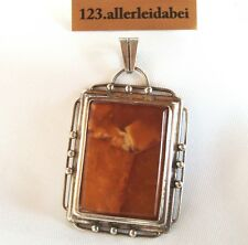 Original Fischland Butterscotch Bernstein Anhänger 835 er Silber amber / AG 710