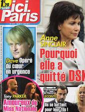 ICI PARIS N°3441 franck fernandel alison arngrim tony parker dave anne sinclair