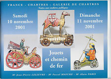 CATALOGUE DE VENTE. CHARTRES. JOUETS ANCIENS. 10-11-NOVEMBRE 2001. *** REF 4857