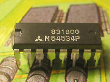 M54534P 6-UNIT 320mA TRANSISTOR ARRAY WITH CLAMP DIODE AND STROB Mitsubishi 1pcs
