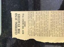 M3-9a ephemera 1941 dagenham article clothing fund for evacuees