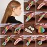 Korean Design Rainbow Pearl Hair Clip Snap Barrette Stick Hairpin Sweet Snap