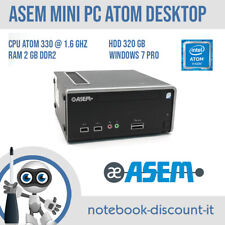 ASEM Mini PC CPU Intel Atom 330 Ram 2gb HDD 320gb Win 7 Pro Computer Desktop