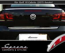 VW Golf 6 VI und 7 VII Cabrio Cabriolet Chrom Zierleiste 3M Heckleiste