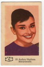 1960s Swedish Film Star Card Bilder C #10 My Fair Lady Actress Audrey Hepburn