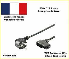 Câble D'alimentation Schuko Mâle Coudé - Iec-320-c13 Co