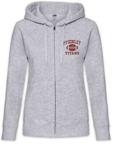 M Titans II Damen Zipper Hoodie Team Glee High School Logo Football Mannschaft