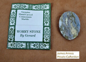James Arness Gunsmoke Marshal Dillon Connemara Marble Hand Craved Worry Stone