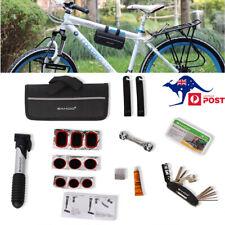 15 in1 Bicycle Bike Cycling MTB Carry Tyre Repair Tools Bag Pump Set Kit AU Post