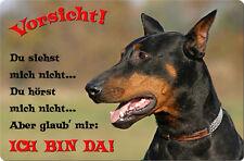 DOBERMANN - A4 Metall Warnschild SCHILD Hundeschild Alu Türschild - DBM 33 T2