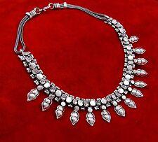 Silvertone Ethnic Tribal Boho Gypsy Banjara Choker Necklace Belly Dance Jewelry