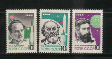 USSIA 1964  SC 2885-87 LEADERS IN ROCKET THEORY  TSIOLKOVSKY MNH # 64 14a