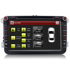 "8"" DVD GPS Autoradio für VW GOLF 5 6 PASSAT TIGUAN TOURAN Sharan POLO Caddy SEAT"