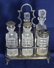 Beautiful Antique 19th Century Silver Plated Cruet Set by HB&HS