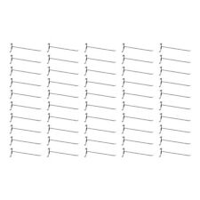 """50 Pc CHROME 12"""" Long Gridwall Hooks Grid Panel Display Wire Metal Hanger Retail"""