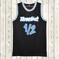 Penny Hardaway #1/2 Lil Penny Stitched Throwback Black Basketball Jersey New