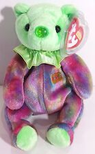 """TY Beanie Babies """"AUGUST"""" the HAPPY BIRTHDAY Teddy Bear - MWMTs! PERFECT GIFT!"""