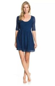 ROXY OUT THERE WOMENS OPEN BACK KNIT DRESS