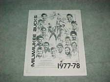 1977 Milwaukee Bucks NBA Basketball Team Poster w/Alex English Quinn Buckner