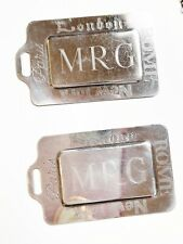 Vintage silver electro-plate Kirk Stieff Luggage tags set of 2