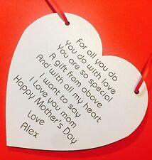 Personalised Mother Birthday Gift For Mum Nan Poem Birthday Present Keepsake