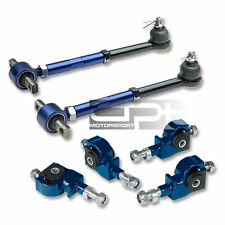 HONDA ACCORD/ TL/CL BLUE STAINLESS ADJUSTABLE BALL JOINT FRONT+REAR CAMBER KIT