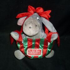 "8"" DISNEY LAND 2004 BABY EEYORE AS CHRISTMAS PRESENT STUFFED ANIMAL PLUSH TOY"