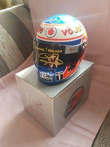 Jenson Button Mclaren Mercedes 1:2helmet Hand Signed ,F1 World Champion