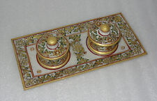Marble Bowl Tray Set Dry Fruit Bowl Jaipur Raga Hand Painted Kitchen Home Decor