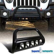 """2018 Jeep Wrangler JL Shiny Black 3"""" Bull Bar Push Bumper Grille Guard 1PC"""