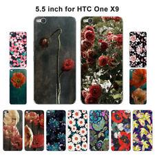 Suave TPU Silicona Funda Para HTC Protección posterior cubiertas de teléfono One X9 Piel Floral