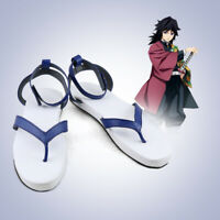 Anime Demon Slayer: Kimetsu no Yaiba Tomioka Giyuu Shoes Sandal Cosplay Props