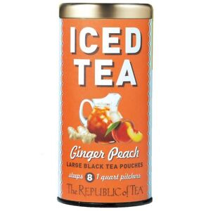 Ginger Peach Black Iced Tea by The Republic of Tea, 8 Pouches