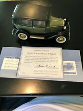 Franklin  Mint 1930 Ford Model A Tudor With COA