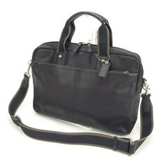 Coach Business bag Black Mens Authentic Used Y630