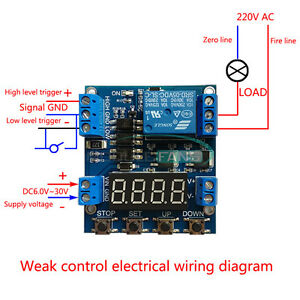 6-30V 1-Channel Relay Module Durable Trigger Delay Cycle Timer Circuit Switch