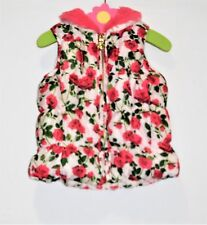 Betsey Johnson Red Rose Print Puffer Vest, 12-18 mos.