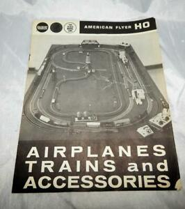 SCARCE American Flyer 1962 Catalog D2329 HO trains & Airplanes 12 pgs blck&white