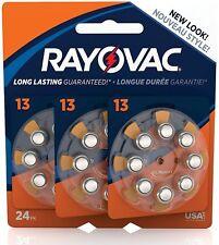 Rayovac Size 13 Hearing Aid Batteries 24 ea