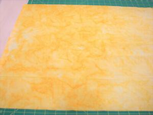 3 Yards Cotton Fabric - Benartex Batik Gradation Sunshine Lemon Yellow Pale Yel
