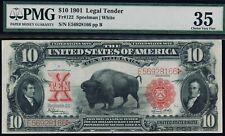 Fr. 122 1901 $10 Legal Tender PMG 35