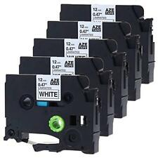 5PK TZe231 TZ231 Black on White Compatible for Brother P-Touch 12mm*8 Label Tape