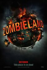 ZOMBIELAND MOVIE POSTER DS ORIGINAL Advance 27x40 JESSE EISENBERG EMMA STONE