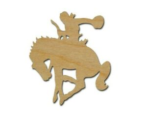 Bucking Horse Unfinished Wood Cutout Cowboy DIY Crafts Variety of Sizes