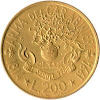 COIN / ITALY / 200 LIRA 1994 ARMA DEI CARABINERI  #WT3711