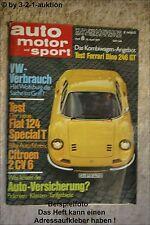 AMS Auto Motor Sport 8/71 * Ferrari Dino 246 GT Puma GTE 1600 Citroen 2CV