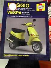Piaggio (Vespa) Scooters Service and Repair Manual: 1991 to 2004 by Matthew Coom
